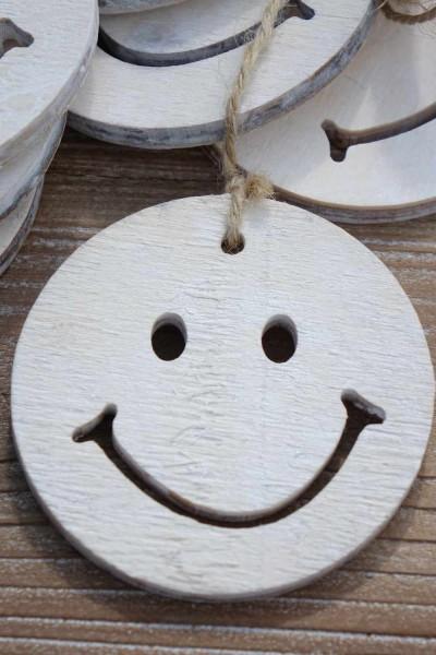 Smiley Holzaufhänger