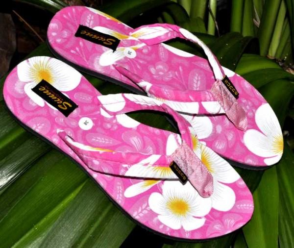 Plumeria Flip Flops pink