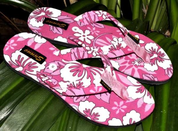 Hibiscus Flip Flops pink