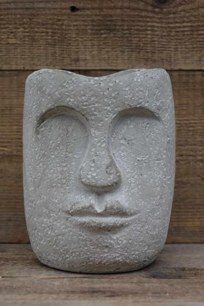 Gesicht Zementopf